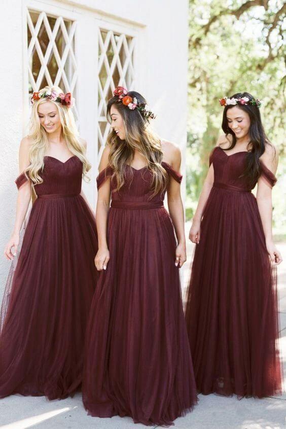 vestidos vino damas de honor 2018