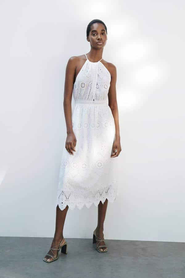 Vestido Blanco Zara Ajustado