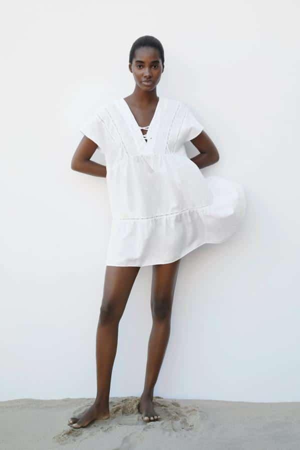 Vestido Blanco corto verano Zara