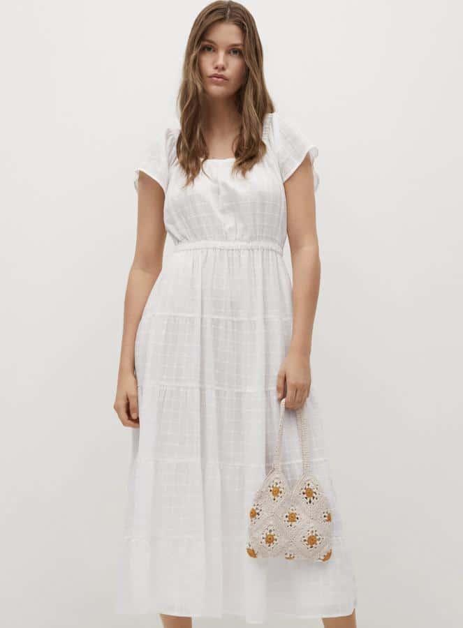 Vestido Blanco lazo mango