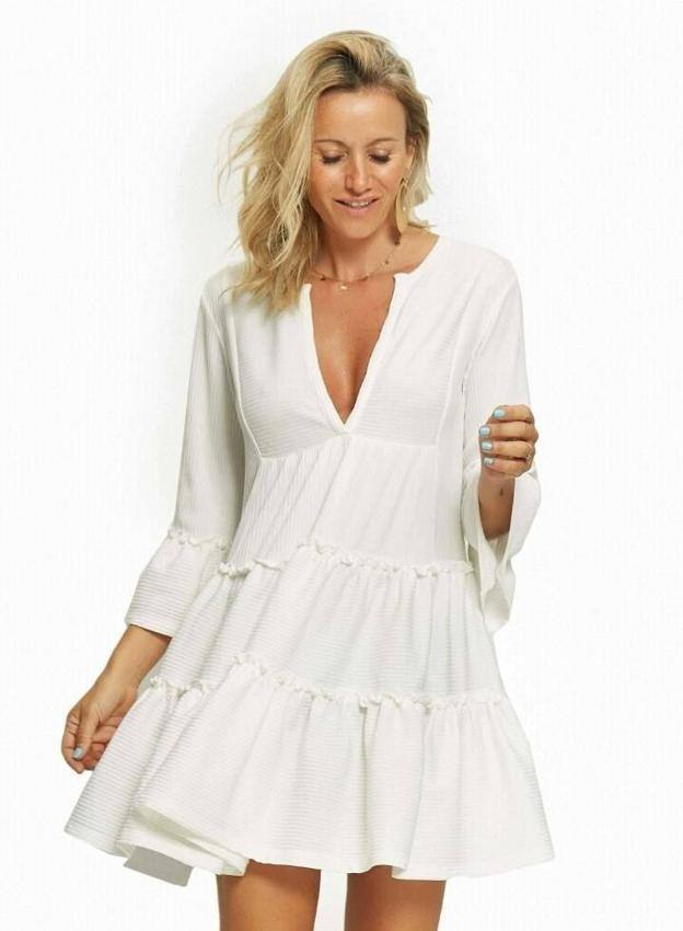 Vestido blanco paula echevarria